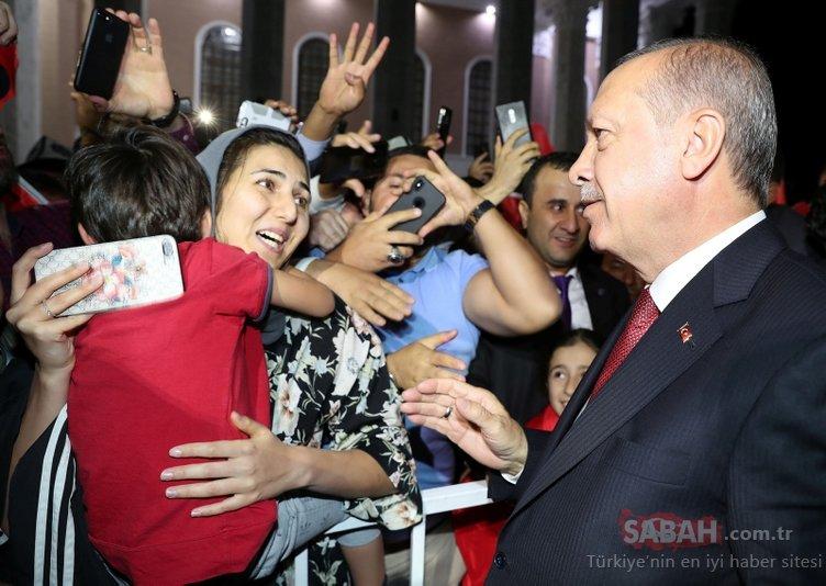 Bişkek sokaklarında Başkan Erdoğan'a sevgi seli