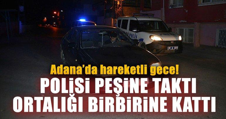 Adana'da kaçan ehliyetsiz sürücü kovalamaca sonucu yakalandı