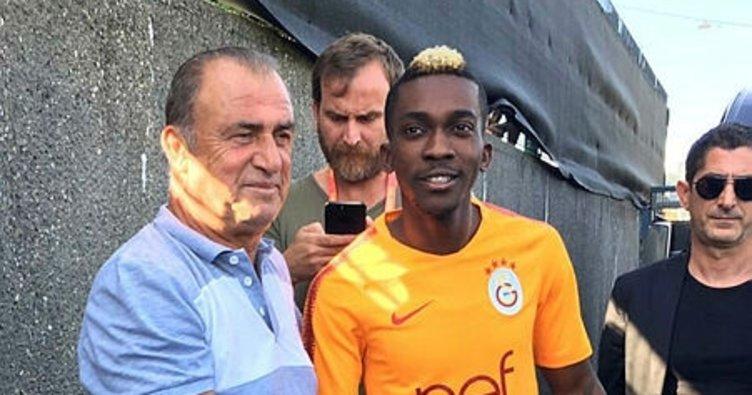 Galatasaray'da Onyekuru, Galatasaray ile ilk antrenmanına çıktı