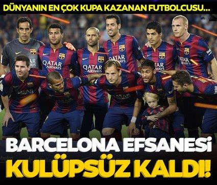 Barcelona ve Brezilya efsanesiydi! Dünyanın en çok kupa kazanan futbolcusu Dani Alves kulüpsüz kaldı...