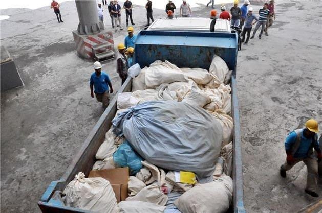 6 ton uyuşturucu böyle imha edildi