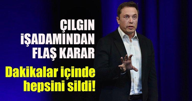 Elon Musk'tan son dakika Facebook kararı