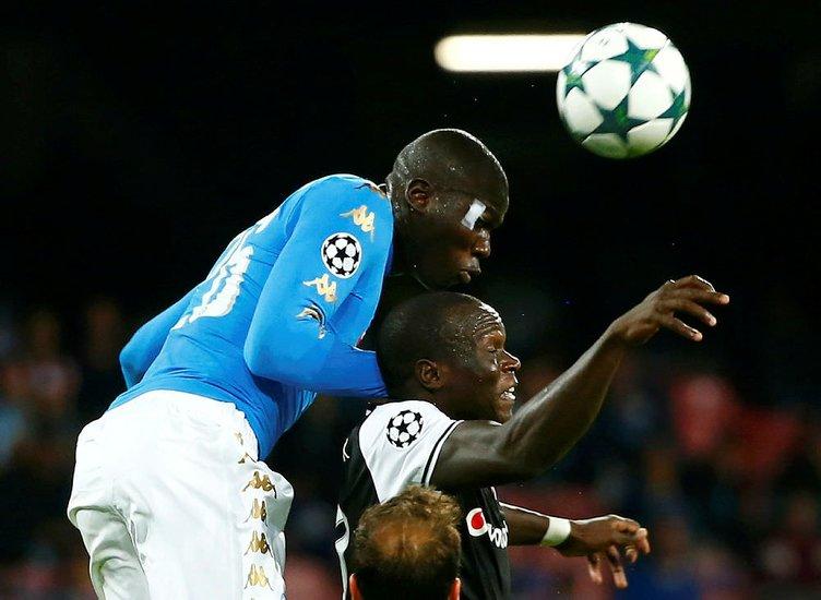 Napoli-Beşiktaş maçından kareler