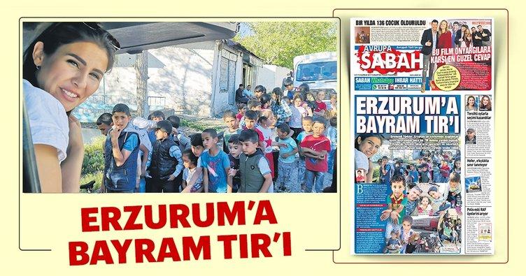 Erzurum'a bayram TIR'ı