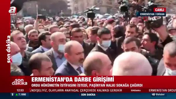 SON DAKİKA: Ermenistan'da Paşinyan Erivan sokaklarında darbeye direniyor | CANLI YAYIN | Video
