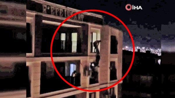 Son dakika haberi: Türkiye bu olayı konuşuyor! İzmir'de 5. kattan atlayan kadını havada bacaklarından böyle yakaladı   Video