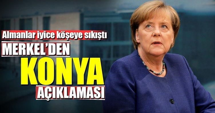 Merkel'den Konya açıklaması