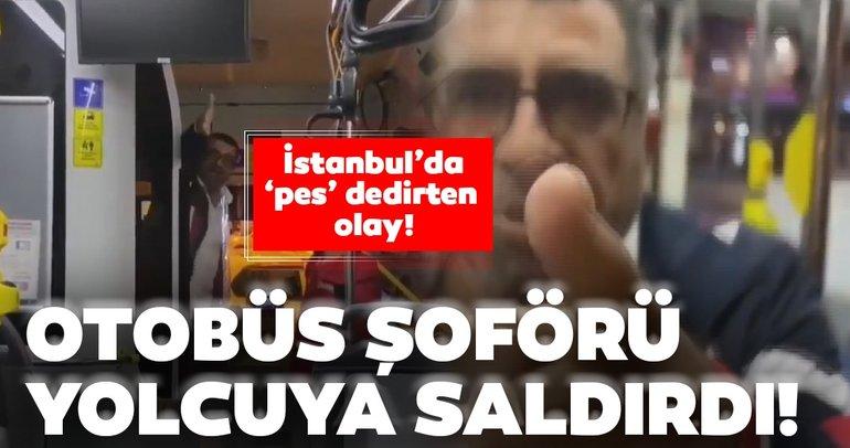 İstanbul'da otobüs şoförü yolcuya saldırdı! Yolcu, o anları telefonuyla kaydetti