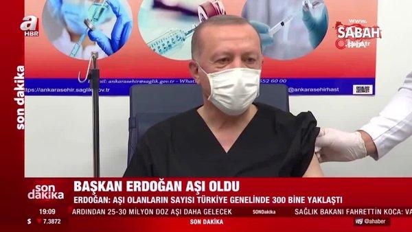 Son dakika haberi: Başkan Erdoğan'dan aşı sonrası ilk açıklama | Video