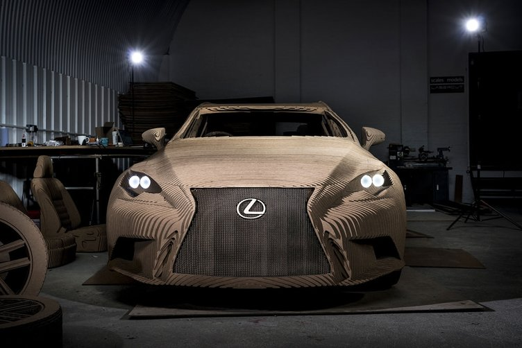 Lexus, kartondan gerçek araba yaptı!