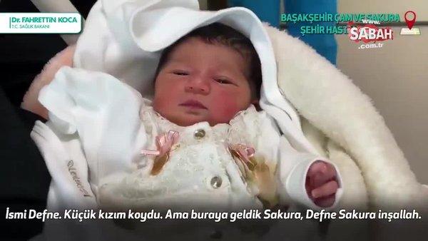 Başakşehir Şehir Hastanesi'nin ilk bebeği Defne Sakura dünyaya geldi   Video