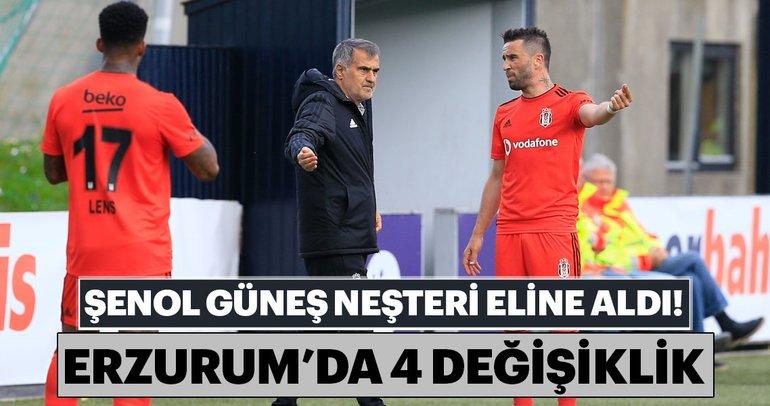 Şenol Güneş'ten Erzurumspor maçında 4 değişiklik