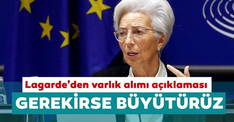 ECB Başkanı Christine Lagarde: Gerekirse varlık alım programını büyütebiliriz