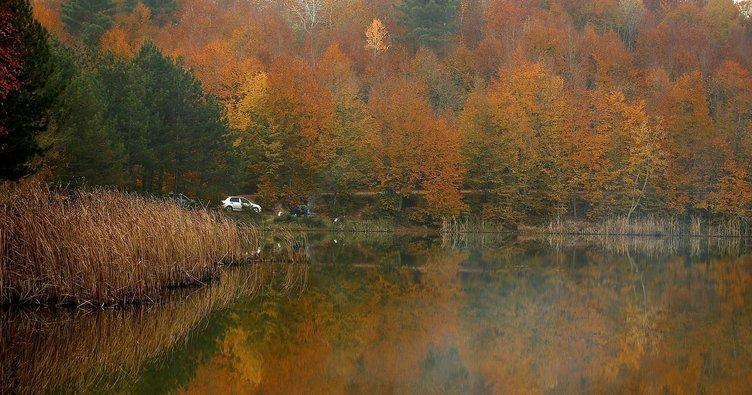 Kurugöl Tabiat Parkı renk cümbüşüyle büyülüyor