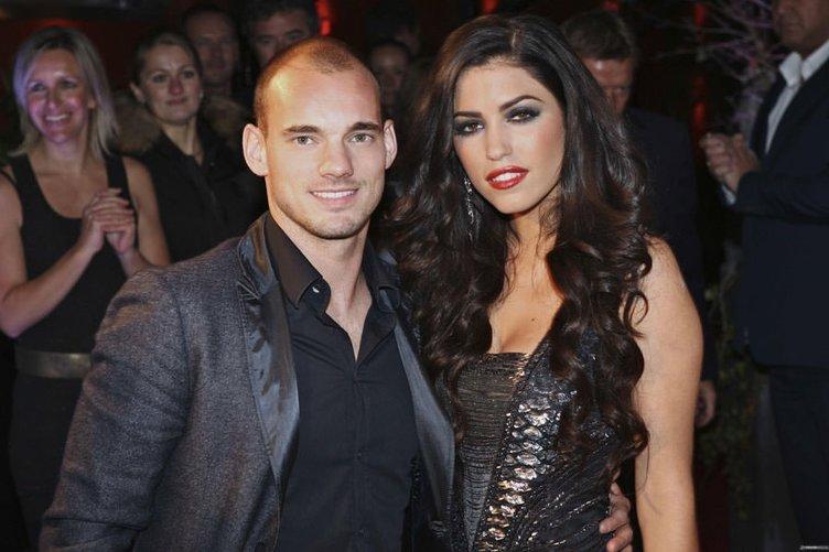 Wesley Sneijder'den Yolanthe Cabau'ya jest