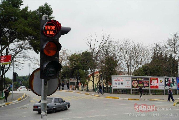 Trafik tabelalarında artık yeni bir işaret var: Evde Kal