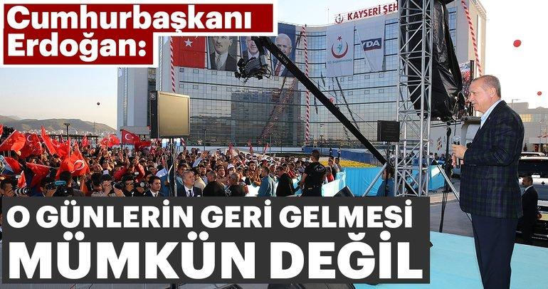 Cumhurbaşkanı Erdoğan Kayseri Şehir Hastanesi'nin açılışını yaptı