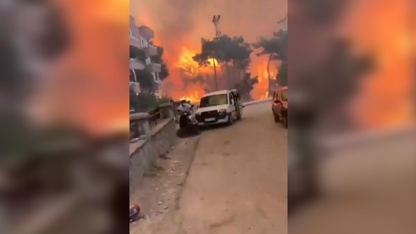 Son dakika Hatay yangını! Yangın faciası devam ediyor! Yerleşim yerine korku dolu anlar | Video