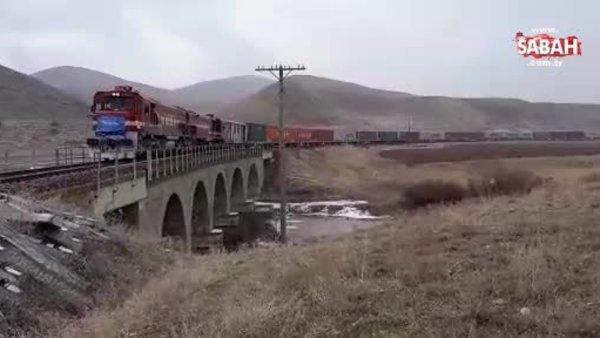 Türkiye'den Çin'e giden ilk İhracat Treni Erzurum'da | Video