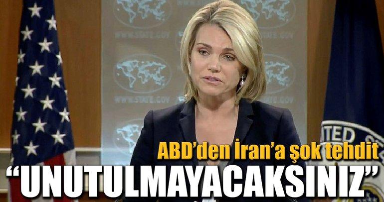 ABD'den İran'a şok tehdit