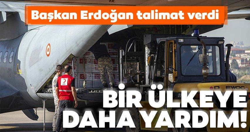 Başkan Erdoğan'ın talimatıyla hazırlandı! Türkiye, bir ülkeye daha tıbbi yardım malzemesi gönderdi