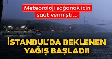 Son dakika haberi: İstanbul'da beklenen gök gürültülü yağmur başladı! Meteoroloji'den uyarı üstüne uyarı gelmişti...