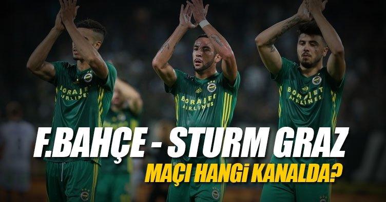 Fenerbahçe Sturm Graz maçı hangi kanalda canlı yayınlanacak? - İşte FB - Sturm Graz maçının kanalı