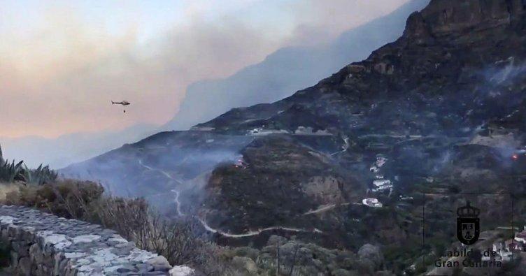 Kanarya Adaları'nda orman yangını sürüyor: 8 bin kişi tahliye edildi