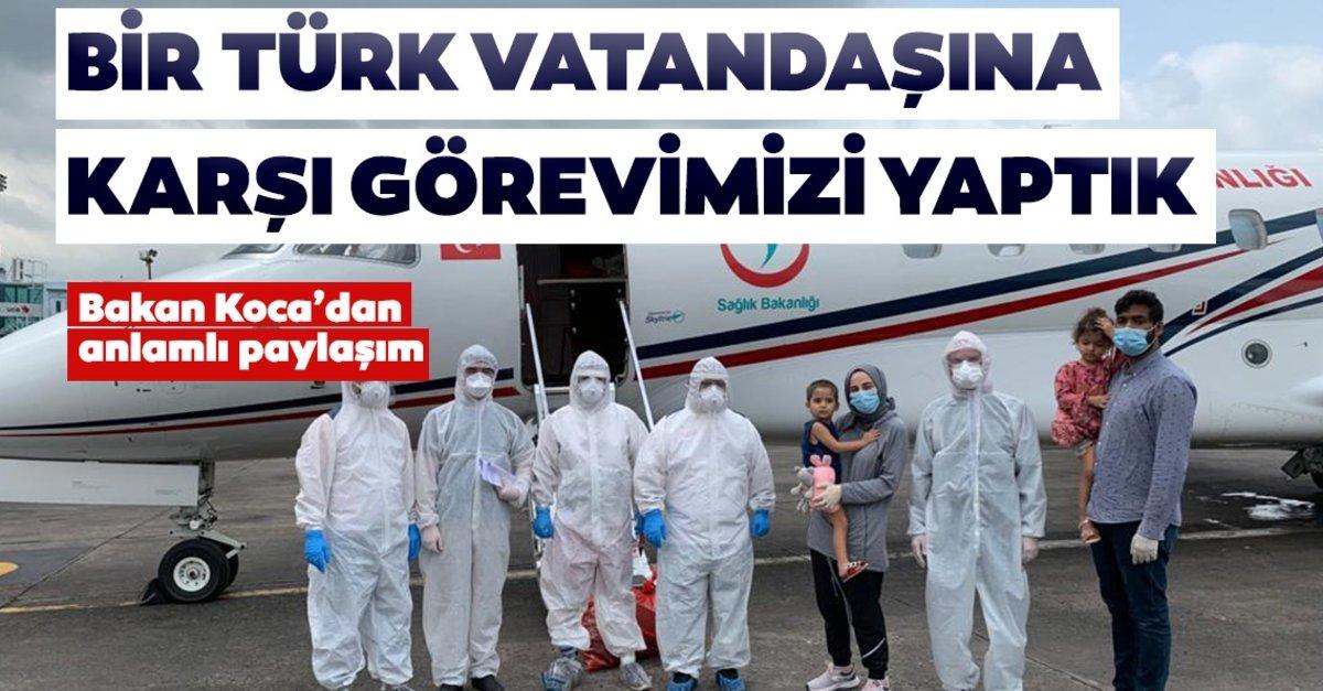 Bangladeş'li COVİD-19 hastası Türk ve ailesi ambulans uçakla Türkiye'ye getirildi