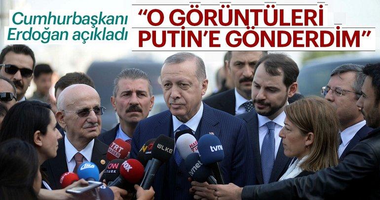 Erdoğan'dan Suriye açıklaması: Duma'daki görüntüleri Putin'e gönderdim