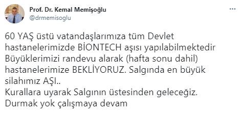 Son dakika: İstanbul İl Sağlık Müdürü Kemal Memişoğlu'ndan Biontech aşısı açıklaması 14