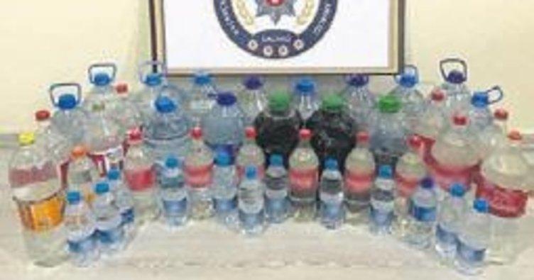 105 litre kaçak içki ele geçirildi