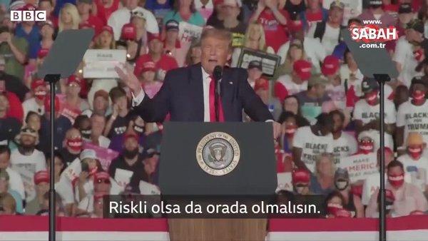 ABD Başkanı Trump Covid-19'u yendikten sonra ilk mitingini Florida'da gerçekleştirdi!   Video