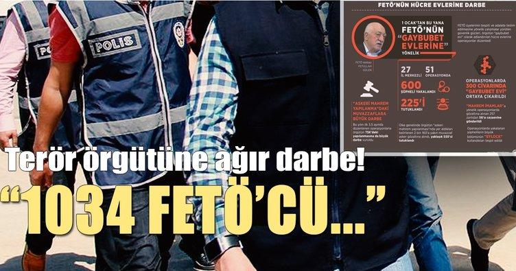 Nisan'ın ilk yarısında 1034 FETÖ zanlısı yakalandı