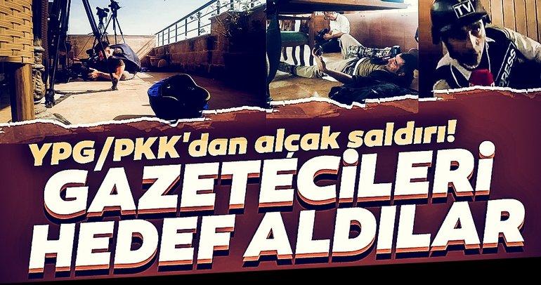 Son dakika haberi: YPG/PKK'lı teröristlerden hain saldırı! Gazetecileri canlı yayında hedef aldılar
