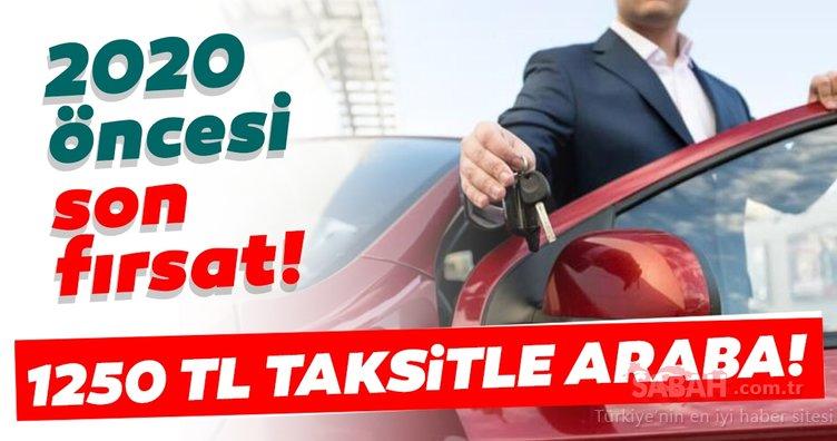Herkes sahibinden ikinci el araba araştırırken... 1250 lira taksitle otomobil! İşte 2019'un son fırsatları...