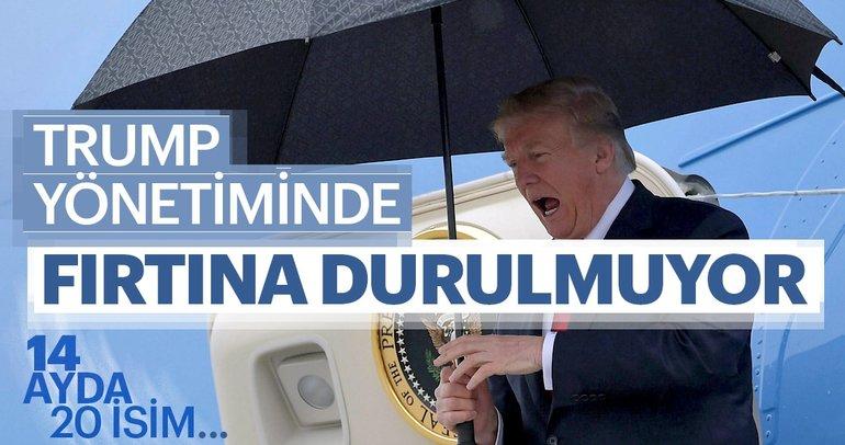 Trump yönetiminde fırtına durulmuyor