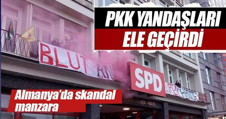 Hamburg'da SPD binası PKK yandaşları tarafından ele geçirildi