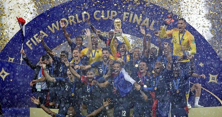 Son dakika: Dünya Kupası'nı Fransa kazandı