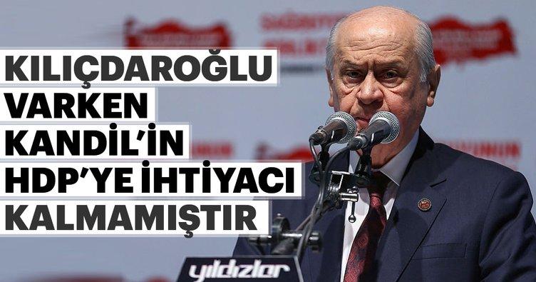 Bahçeli'den, Kılıçdaroğlu'na ağır sözler