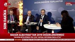 Hazine ve Maliye BakanıBerat Albayrak,2019 Değerlendirme Toplantısı'nda önemli açıklamalar