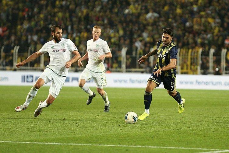 Fenerbahçe'de Konyaspor maçı için 6 değişiklik!