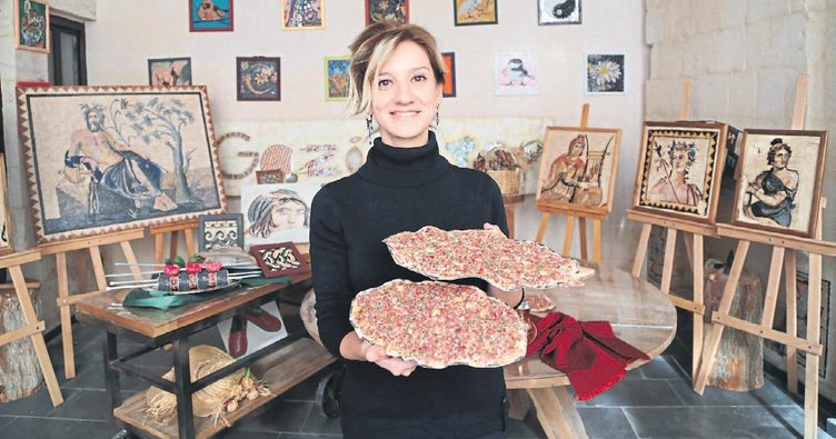 Gaziantep'in lezzetleri mozaikle hayat buldu