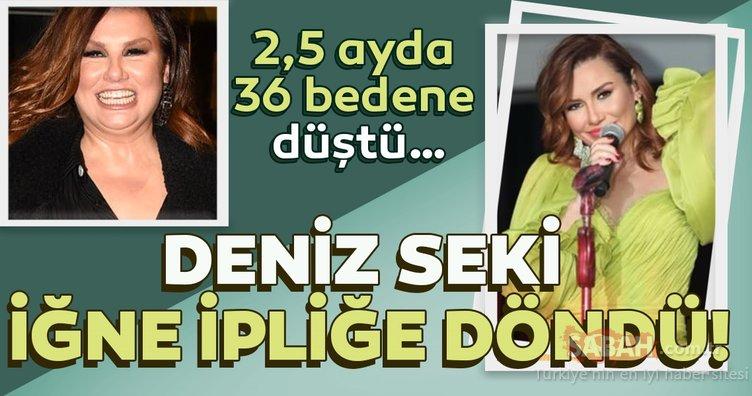 Deniz Seki iğne ipliğe döndü! 2.5 ayda 36 bedene düşen 50 yaşındaki şarkıcı genç kızları kıskandırdı! Sosyal medya yıkıldı!