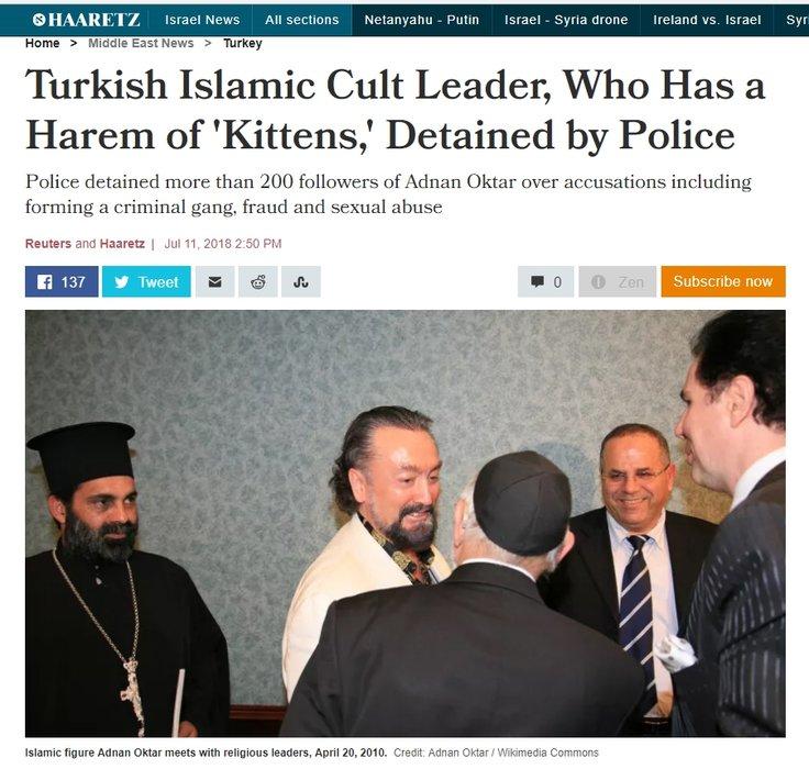 İsrail basınının Adnan Oktar ilgisi