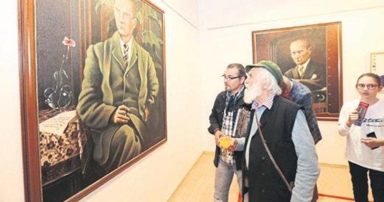 Ressam Cenk Sezer SANKO'da sergi açtı