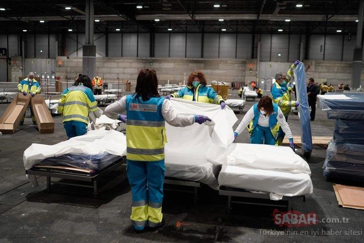 İspanya'nın içler acısı hali! Hastalar koridorlarda yatıyor...