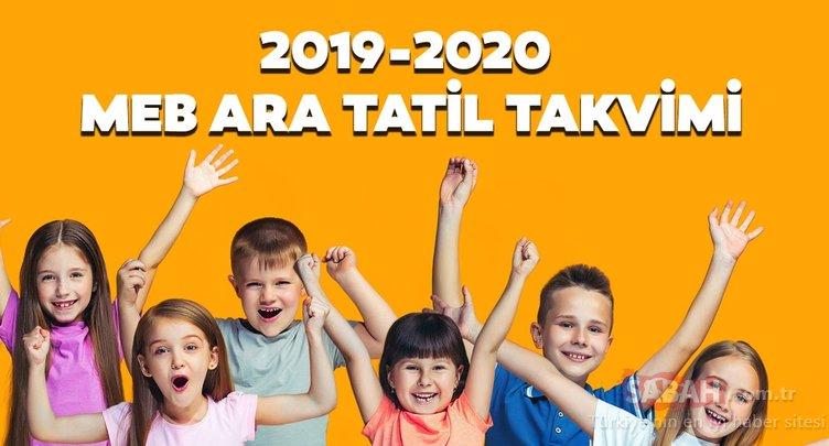 Ara tatiller ne zaman yapılacak? 2019-2020 dönemi MEB ara tatil takvimi!