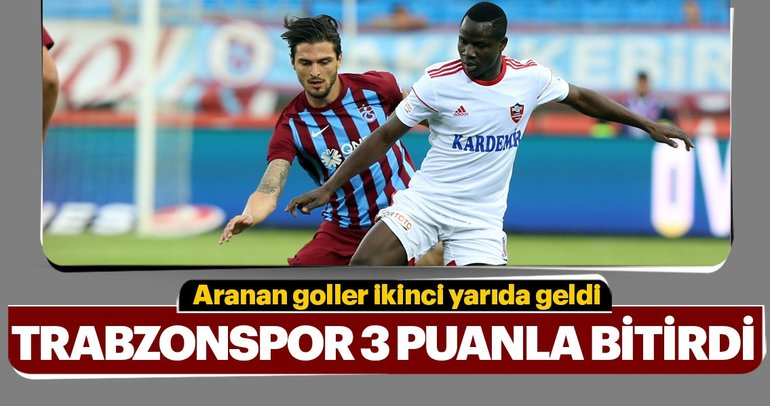 Trabzonspor, Spor Toto Süper Lig'i galibiyetle tamamladı