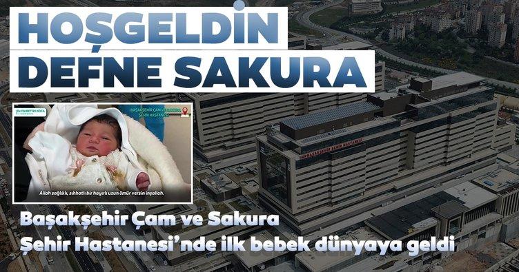 Başakşehir Şehir Hastanesi'nin ilk bebeği Sakura dünyaya geldi